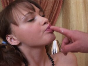 Sharlotta wants to taste some cum after a plowing