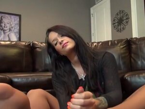Sexy Babysitter gives a HOT Footjob