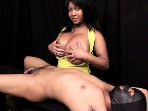 Ebony Maya Plays With Her Big Tits