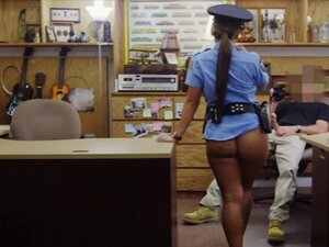 Latin police officer railed by pawn man at the