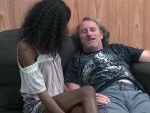 Interracial family affairs, Ebony  old man  oral
