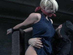 Shorthaired submissive emo slave tickled by dom,