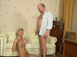 Nuahgyt and slender babe Nika gets this old man to