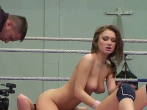 Busty babes enjoy sixtynine after wrestle