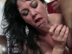 Big breasted mature Alexis Couture has a hard dick