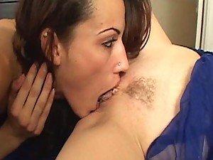 Horny Lesbians Get Tongue Crazy