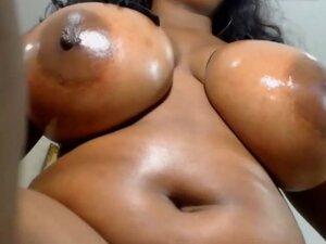Real natural black ebony colombian tits,