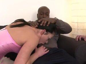Horny pornstar in hottest brunette, interracial