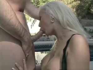 Horny pornstar in best blonde, outdoor porn scene,