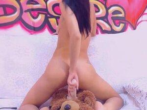 Lovely Teen Having a Great Time Masturbating,