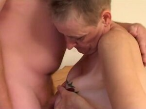 Granny With Vaginal Piercings Gets Dick, This