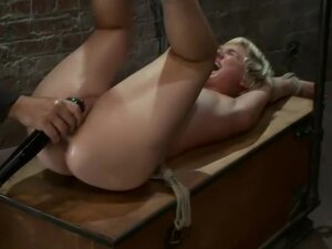 Hot blond's first time being made to squirt!