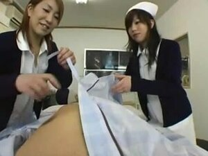 CENSORED Japanese Nurse helps a patient,