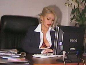 Sexy Secretary Horny At Work