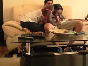 Interracial homemade sex tape with cock hungry