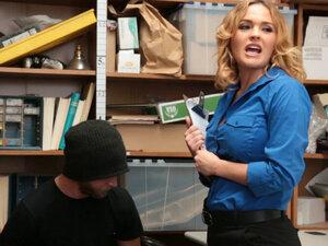 MILF LP officer fucks a male shoplifter in her