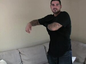 Hot latino gangster jerks off
