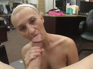 Slutty Sadie Leigh takes a pawnmans cock for a