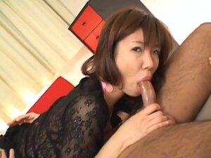 Misaki Inaba sucks and fucks big cock doggy-style
