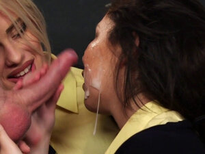 Uniformed beauties suck and stroke