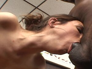 Interracial anal scene with a hot babe Amber Rayne
