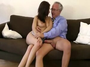 Lusty young babe ravaged by old man