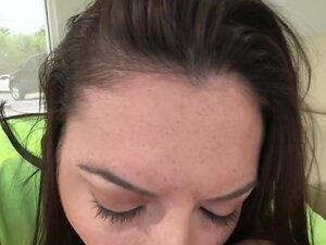 Amateur Brunette Gives An Awesome Blow-Job!, Nikki