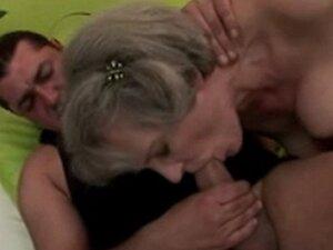 Saggy Tits Grey Haired Granny Fucks