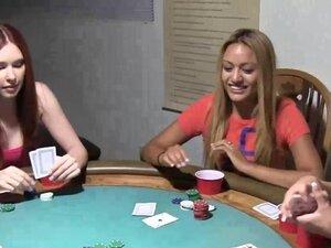 Strip poker for college teen sluts in their dorm