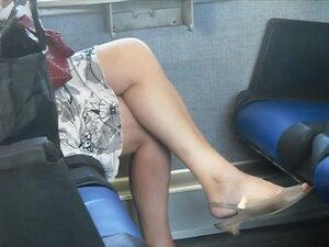 Spy Sexy Mature on the train,