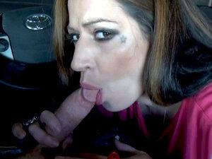 Experienced Emo Latina Sucks A Dick In A Car! -