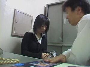 Hot Jap chick strips for her boss in spy cam Asian