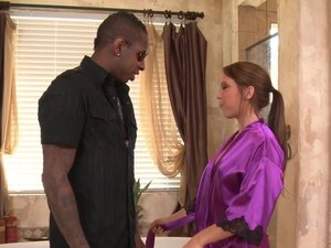 Interracial Soapy Massage and BBC Deepthroating
