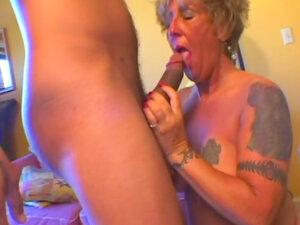 Masturbating mature fucked and facial cumshot
