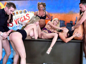 Brandi Love host a late night orgy with special