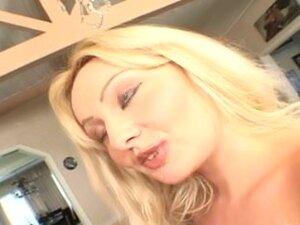 British golden-haired bitch Sheridan receives