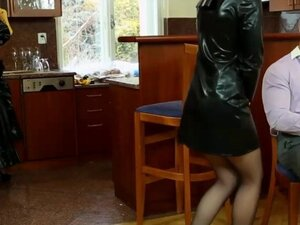 Classy clothed euro group fuck