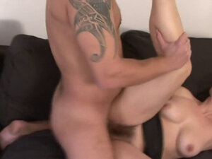 Big dick stretches a hairy cunt