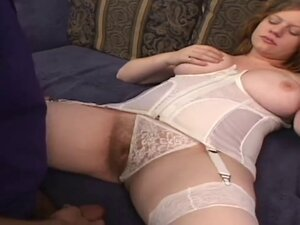 NATURAL HAIRY REDHEAD PALE SKIN PINK TITS GETS