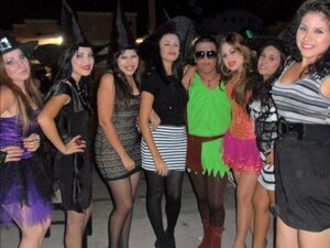 girls pantyhose and halloween