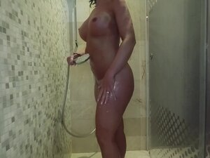 Shower quickie before going to a party -