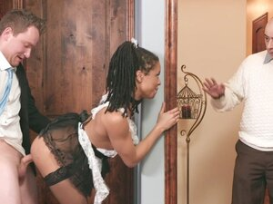 Kira Noir being fucked was almost caught by her