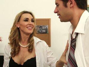 Lustful teacher Tanya Tate helps Charlee Monroe to
