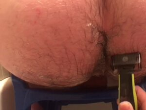 Little Blue Chair - Young Girl Shaves Old Hairy