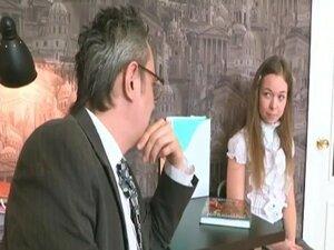 Innocent teen fucks her teacher