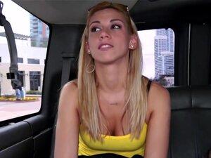 Cute Blondie Gets Tricked on the Bus