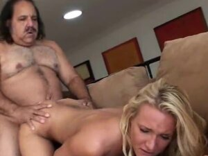 Blonde Gets Nailed By  Mature Man Doggy Style