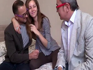Russian Brunette Screwed By A Mature Cock
