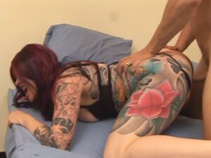 Redhead MILF gives a slow and long blow job to