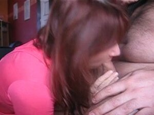 Slutty submissive redheaded French wife gives a